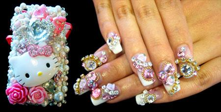 Dont touch the nails nansiepants snazzy 3 d nail art goes to crazy new lengths prinsesfo Images
