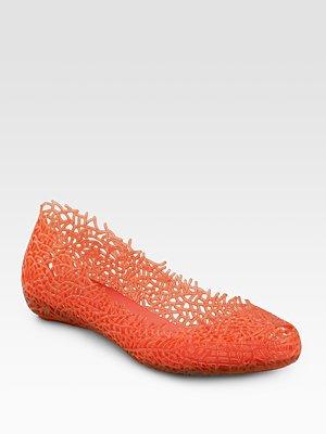 Coral Ballet Flats